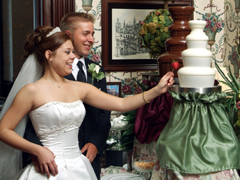 wedding venue chocolate fountain