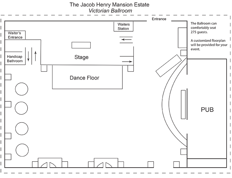 Floor plans jacob henry mansion estate for Mansion floor plans with ballroom